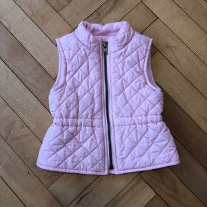 Pink Quilted Toddler Vest